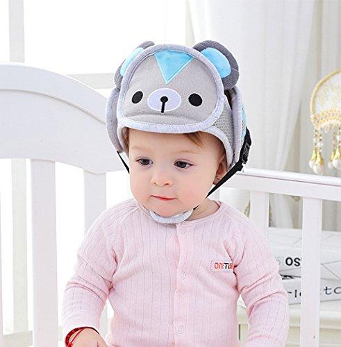 Hillento Baby Schutzhelm, Säugling Kleinkind Kinder Anti-Kollisionskopf Schutzkappe, verstellbare Geschirre Kopfschutz Keine Unebenheiten Kopfpolster Schutzhelm, Bär