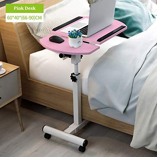 ZDZZX Home Faltbarer Laptoptisch Verstellbarer Beistelltisch Computertisch Klappbarer Laptop-Schreibtisch Bett Seitlicher Studiertisch...