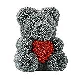 ZXC Home - Orsacchiotto di rose in schiuma di sapone da 25 cm e 40 cm, idea regalo per San Valentino...