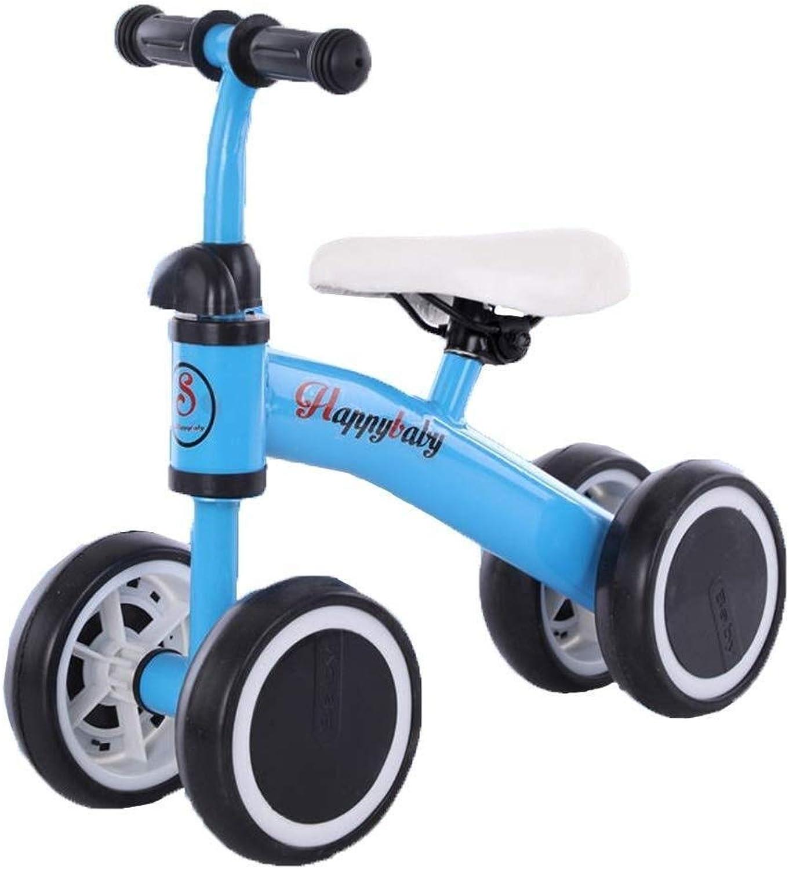 Baby Balance Bike - Kinderfahrrad für 1, 2, 3 Jahre alt, Anfngerfahrrad Leichtgewicht Nicht-Luftreifen, ZHAOFENGMING (Farbe   Blau, Größe   As Shown)