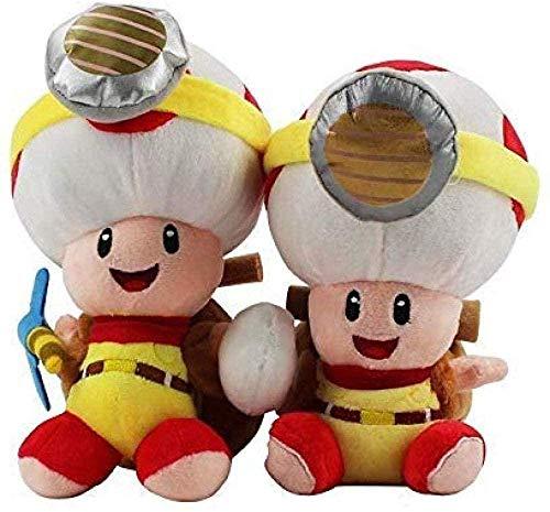 QIXIDAN Super Mario Toys 2 Unidades/Lote Super Mario Captain Toad Treasure Tracker Peluche de Felpa etiquetado