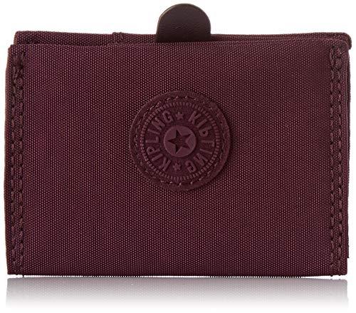 Kipling - Card Keeper, Carteras Mujer, Morado (Dark Plum), 7x10x1 cm (B x H T)