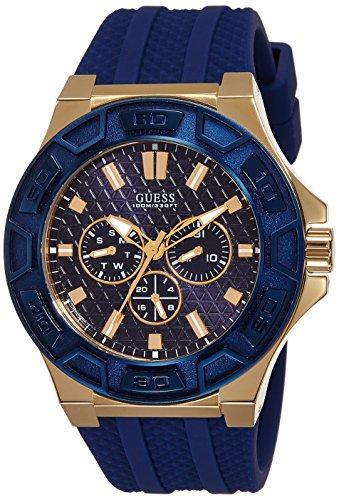 Guess W0674G2 - Reloj de Pulsera analógico para Hombre (Movimiento de Cuarzo, Silicona)