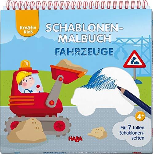 Kreativ Kids – Schablonen-Malbuch Fahrzeuge