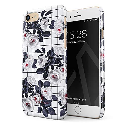 BURGA Cover per iPhone 7/8 / SE 2020 - Fiori Bianco Le Ciliegie Candido Fiorire Cherry Blossom Guscio Resistente in Plastica Dura Custodia Protettiva