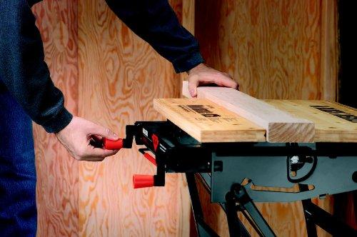 Black+Decker flexible Werkbank WM825 mit großer Arbeitsfläche / Exaktes Arbeiten dank Gradeinteilung und Orientierungslinien / Bis 250 kg belastbar / Maße (Arbeitsfläche): 74,0 x 25,0 cm - 8