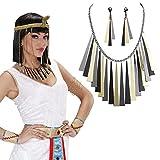 Bijoux égyptiens collier et boucles d'oreilles Cléopâtre