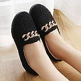 Zapatos De Lana De Otoño E Invierno Zapatillas De Algodón Zapatos De Colegiala Zapatos De Mujer Para Mantener Zapatos Planos Calientes 39 negro
