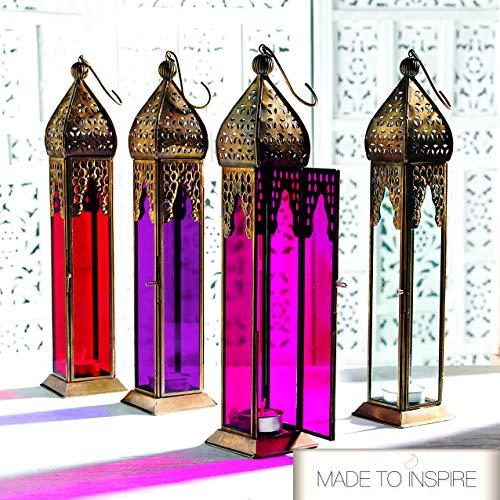 Set van 4 authentieke Marokkaanse lantaarns lampenkap stijl grote klassieke vintage turks binnen tuin effen glas lantaarn opknoping/bureau kaars thee licht houders voor bruiloft decoraties