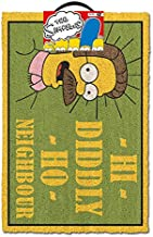 The Simpsons  (Hi Diddly Ho Neighbour) Doormat, Multi Coloured, 40 x 60cm