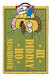 The Simpsons Felpudo HI Diddly HO Neighbour, Multicolor, 40 x 60 cm