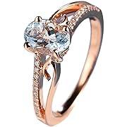 Goddesslili Classic White Oval Diamond Rings for Women Girlfriend Vintage Thin Wedding Engagement Anniversary Simple Jewelry Gift Under 5 Dollars (10)
