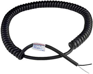 Miller Edge C182-12B Coil Cord, 2 Conductor, 18 Gauge, Extends to 12 Feet