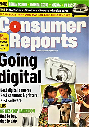 Consumer reports, may 2003: going digital, best digital cameras, best scanners, best software, the desktop darkroom and others