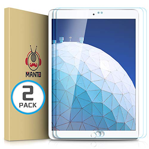 Sale!! MANTO (2 Pack) Screen Protector for iPad Air 3 (2019) and iPad Pro 10.5 Inch (2017) Premium T...