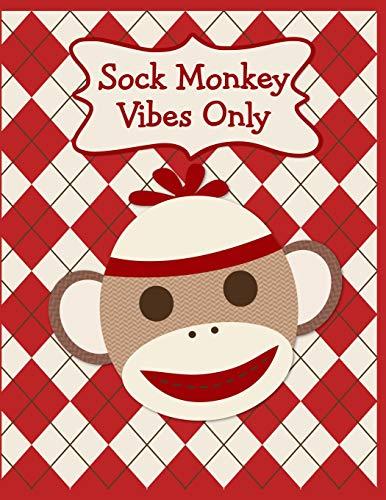 Sock Monkey Notebook: A Cute & Classic Sock Monkey Face Fun Notebook To Write In