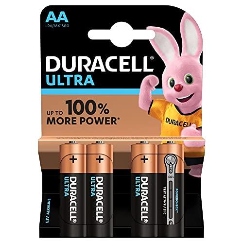 Duracell Batterie AA, confezione da 4