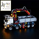 QJXF Juego De Luces USB Compatible con Lego Technic Mercedes-Benz Arocs 3245 42043, LED Light Kit para (Mercedes-Benz) De Bloques De Creación De Modelos (No Incluido Modelo)