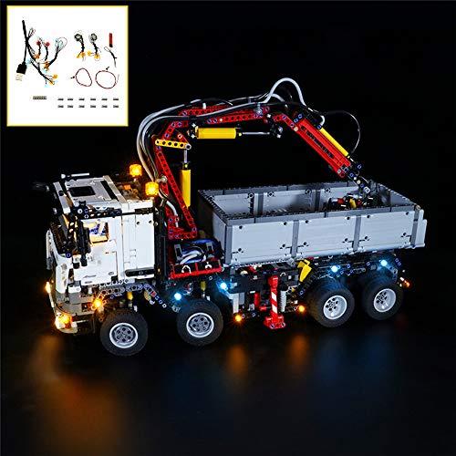 QJXF USB Light Set Kompatibel Mit Lego Technic Mercedes-Benz Arocs 3245 42043, LED-Licht-Kit Für (Mercedes-Benz) Bausteine Model (Nicht Im Lieferumfang Enthalten Modell)