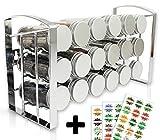 LEANDER DESIGN® Gewürzregal für Küchenschrank und Arbeitsfläche