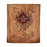 Harry Potter Shower Curtain Mappa del Marauder Wall Banner 180x200cm Elbe Woods Beige