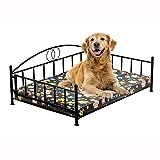 FBARTL - Cama para Perro de Hierro Forjado con diseño de Perro Golden Retriever, Cama Grande para Perros pequeños y Grandes