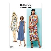 【Butterick】Misses' Dress ミス・ドレスの型紙セット サイズ:Xsm-Sml-Med B6551