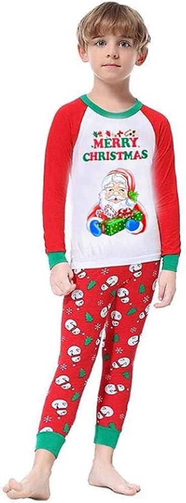 Sunkumo Christmas Family Wear Family Wear Santa Print Set Home Wear