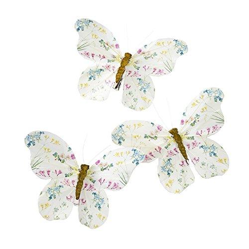 Talking Tables Schmetterlingsdekorationen mit Federclip für Kindergeburtstage und Kaffeekränzchen, mehrfarbig (6 Stück)