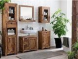 Woodkings Bad Set Lagos Echtholz Palisander massiv Holz Badmöbel Badezimmerset Badezimmerschrank 5teilig