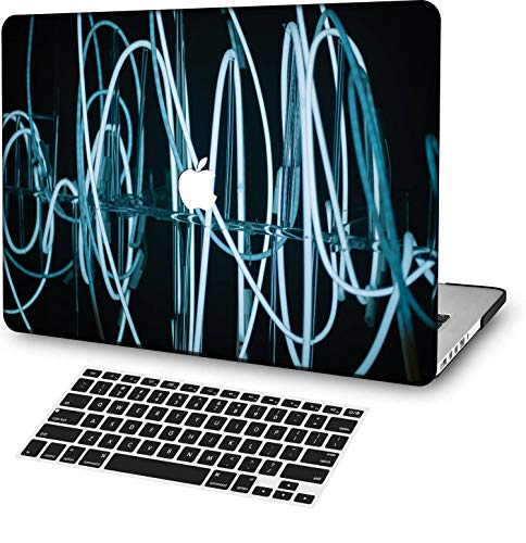 MingCaiFS Laptop Case for MacBook Air 13' Retina (Touch ID) Cut Out Design,Plastic Pattern Ultra Slim Light Hard case Keyboard Cover (Model:A2179) Colorful C 0810