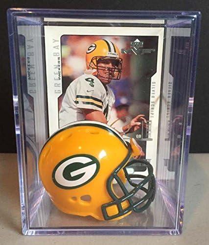 Green Bay Packers NFL Helmet Brett Very popular Al sold out. Shadowbox w Favre card