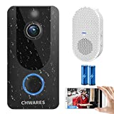1080P Video Doorbell Camera with Chime, Wireless Wi-Fi Smart Video Doorbell Security Camera