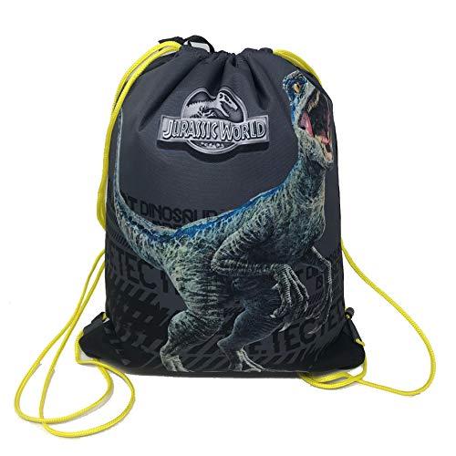 Jurassic World Bolso mochila con cordón  tamaño 40 x 30 cm aprox
