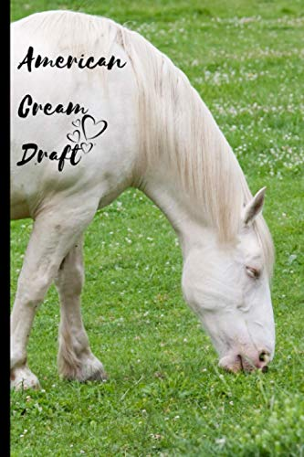 American Cream Draft Horse Notebook For Horse Lovers: Composition Notebook 6x9' Blank Lined Journal