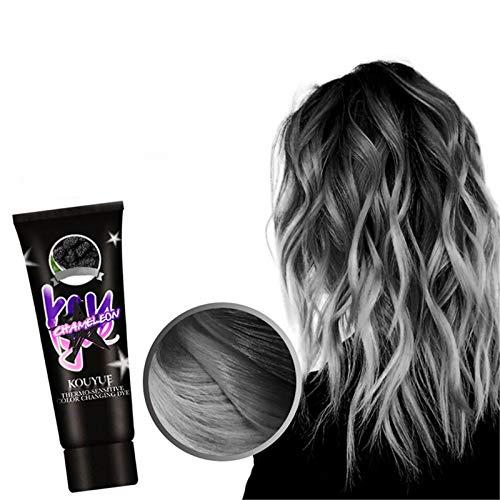 Fanville Magical Farbwechsel Haarfarbe Thermochrome Farbwechsel Wonder Dye Haarfarbe Mode Haarfarbe Unisex DIY Haarfarbe Wachs