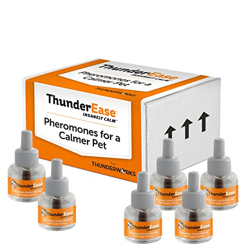 ThunderEase Dog Calming Pheromone Diffuser Refill | Powered by ADAPTIL | Vet Recommended to Relieve Separation Anxiety, Stress Barking and Chewing, and the Fear of Fireworks and Thunderstorms (180 Day