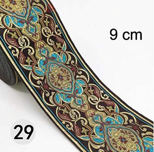 1M etnische geborduurde jacquardlinten Trim DIY voor decoratie Handwerkkleding Naaien Hoofddeksels Kantstof HB165,29