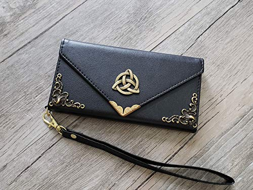Trinity Celtic Knot Envelope Phone Leather Wallet Case for iPhone 8 7 6 6s X Xs Xr 11 12 Pro Max Samsung S8 S9 S10 S20 S21 Ultra Note 20 8 9 10 Plus Mn0947