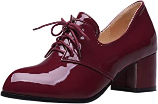 Melady Women Classic Brogue Shoes Mid Heels