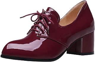 Melady Women Classic Brogue Shoes Mid Heels