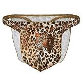 Freebily Tanga de Patrón Leopardo Taparrabo G-String Thong para Hombres Ropa Interior Disfraz de Selva para Fiesta Carnaval Ceremonia Marrón XX-Large