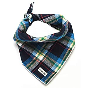 Tartan Plaid Dog Bandana – Dog Scarf Pet Accessories for Dogs, Cats, and Puppies Large Medium Small
