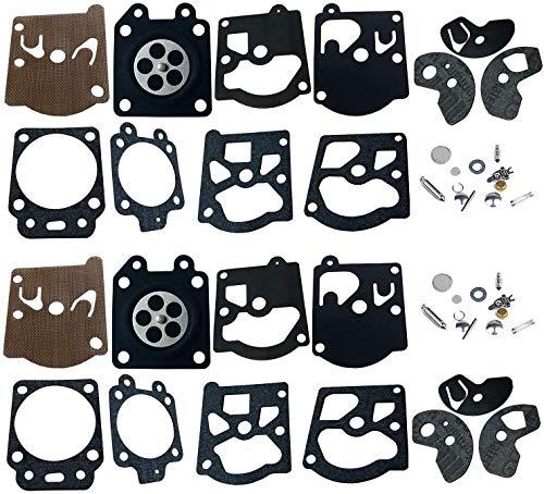 Queta 2 paquetes Kit reparación de carburador Diafragma y junta membrana para Walbro K10-WAT WA y WT Series Stihl 028 FS40 FS44 FS85 Dolmar103105108111Husqvarna Poulan McCulloch Partner Echo,