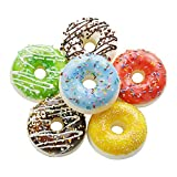6 Pack Fake Donuts Cake Toys, Perfect for Kids Pretend Play Food Party, Birthday and Wedding Artificial Doughnuts Decorations with Magnets (2.6Inch)