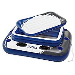 No need to get out of the pool for a nice refreshing beverage when you have an Intex Mega Chill 2 The base can also be used as a floating base for a cooler up to 48 quarts Includes: Removable ice chest. Three air chambers. Six built in cup holders. F...