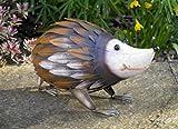 Garden Mile® - Figura decorativa de metal para el jardín con diseño de animal,...
