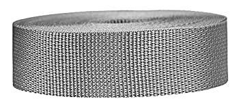 Strapworks Lightweight Polypropylene Webbing - Poly Strapping for Outdoor DIY Gear Repair Pet Collars Crafts – 1.5 Inch x 10 Yards - Silver Gray