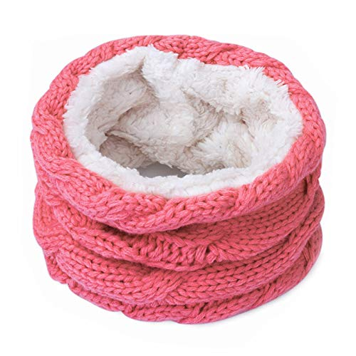 FQSCX Bufandas para mujer y niños Bufanda de invierno de moda Mujer Hombre Bufanda de anillo suave y cálida Bufandas Unisex Cuello de punto Redecilla Plus Velvet Pañuelo P
