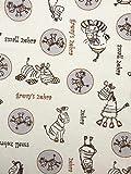 Slantastoffe Jersey Interlock Kinderstoff Zebra beige